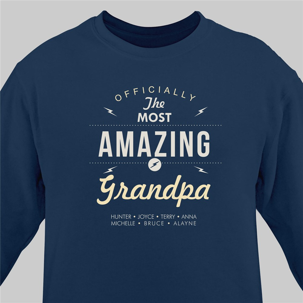 Personalized Sweatshirt for Him | Shirt For Most Amazing Guy