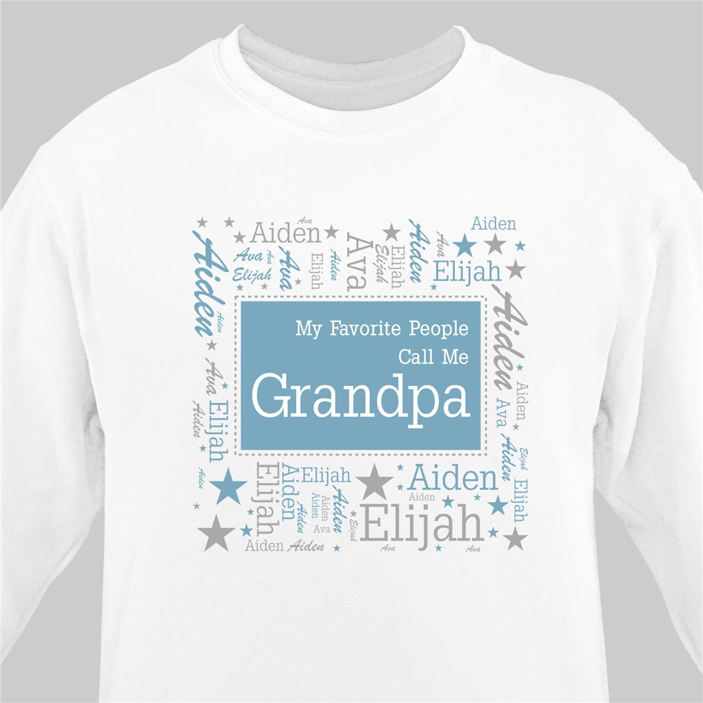 Favorite People Word-Art Sweatshirt | Gift for grandpa