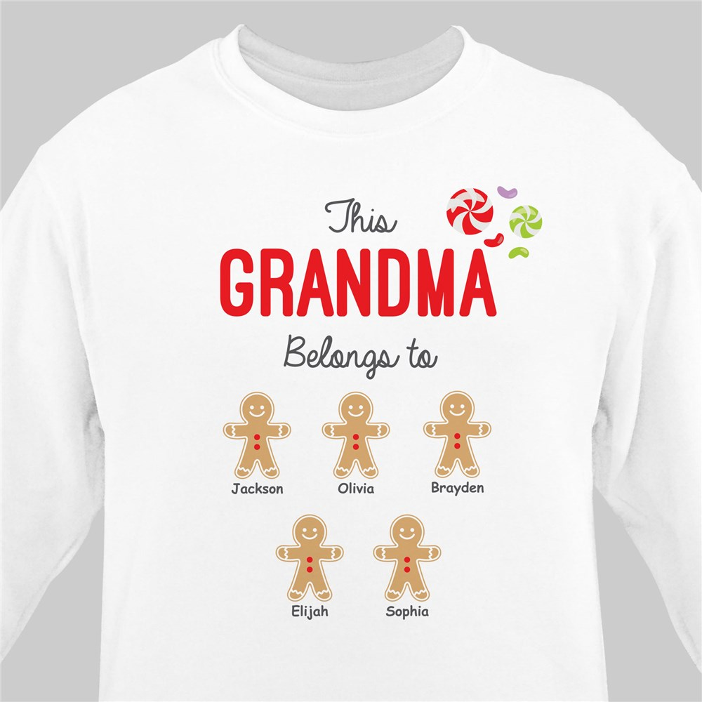 Personalized Belongs to Gingerbread Sweatshirt | Personalized Christmas Shirt