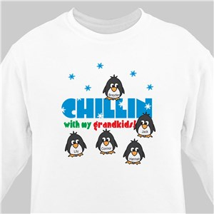 Chillin' Penguin Personalized Winter Sweatshirt | Personalized Christmas Shirt