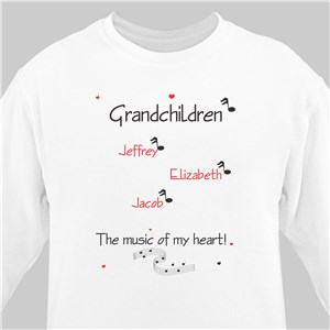 Music of My Heart Sweatshirt | Personalized Grandma Shirts