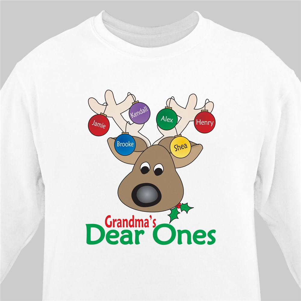 Deer Ones Christmas Personalized Sweatshirt | Personalized Christmas Shirt