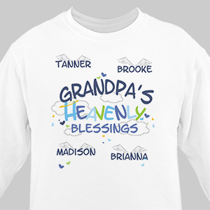 Heavenly Blessings Grandpa Sweatshirt | Personalized Sweatshirts