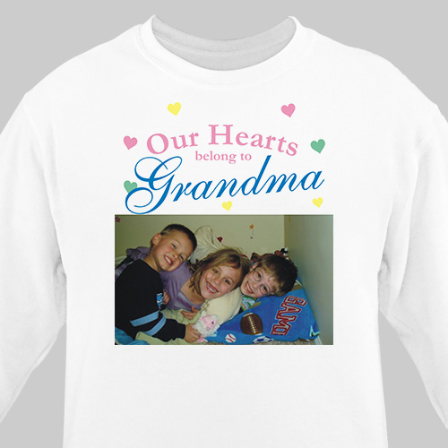 Our Hearts Personalized Photo Sweatshirt | Personalized Sweatshirts