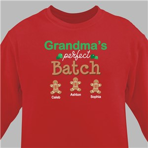 Personalized Holiday Sweatshirts | Gingerbread Sweatshirt