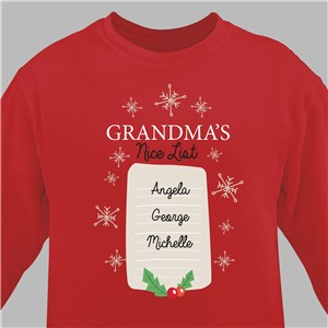 Personalized Holiday Sweatshirts | Nice List Christmas Sweatshirt