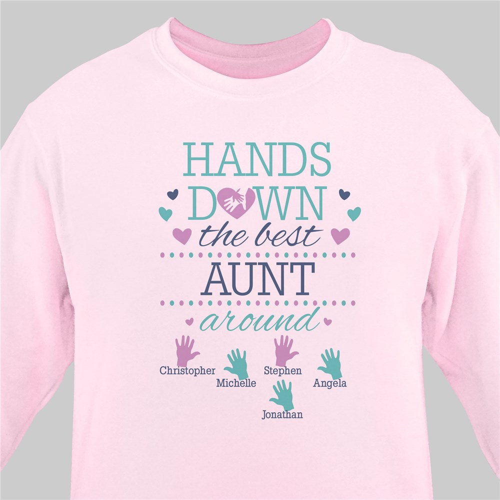 Personalized Hands Down the Best Sweatshirt