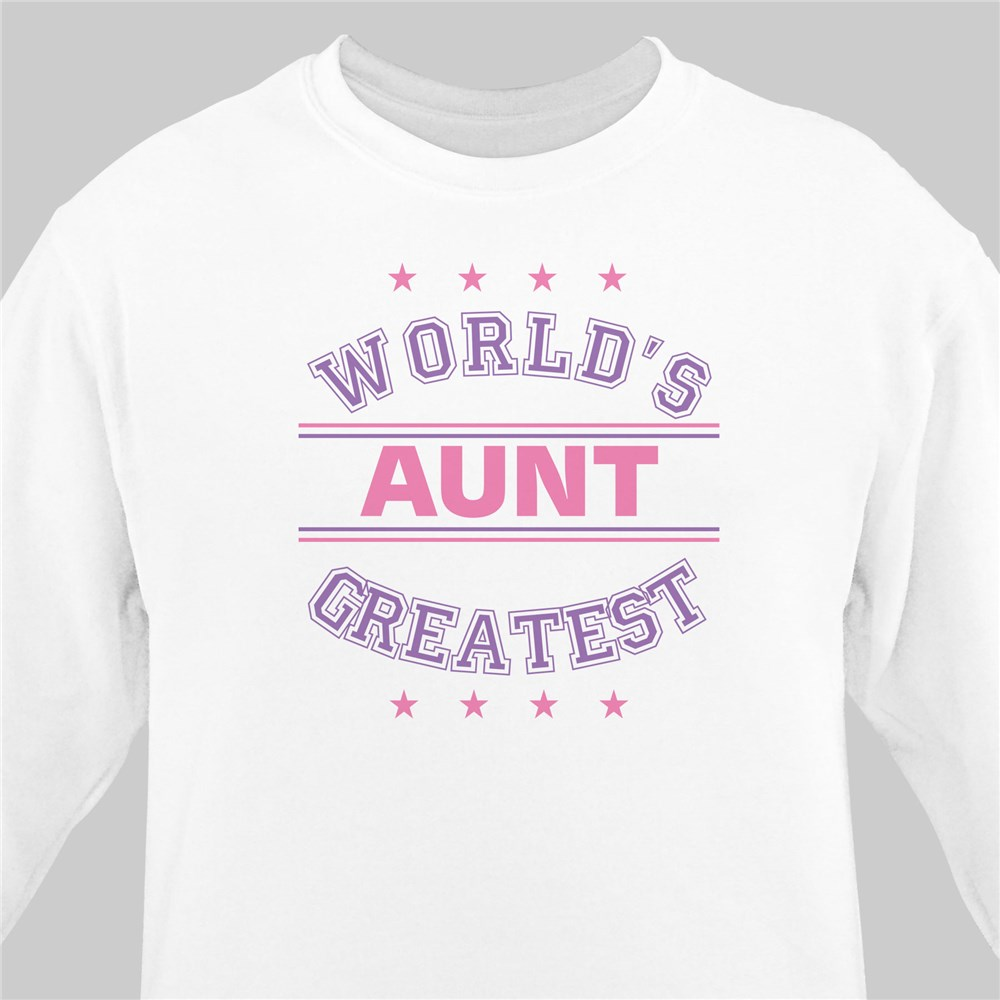 World's Greatest - Purple Personalized Sweatshirt | Personalized Sweatshirts