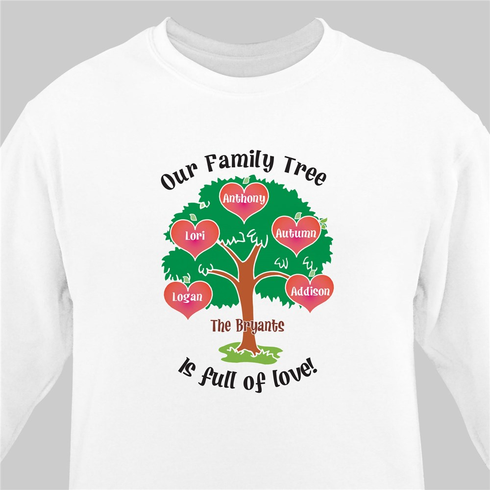 Our Family Tree Personalized Sweatshirt | Personalized Sweatshirts