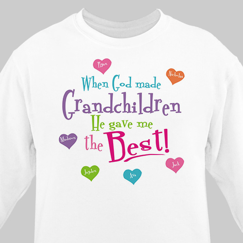 God Gave Me the Best Personalized Sweatshirt | Grandma Gifts
