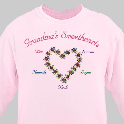 My Sweethearts Personalized Sweatshirt | Personalized Grandma Shirts