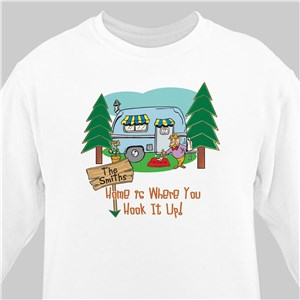 Home is Where You Hook It Up Personalized Sweatshirt | Personalized Sweatshirts