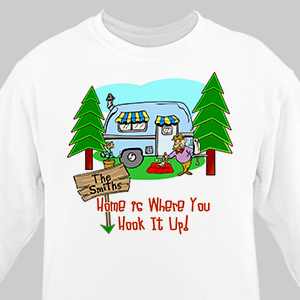 Home is Where You Hook It Up Personalized Sweatshirt