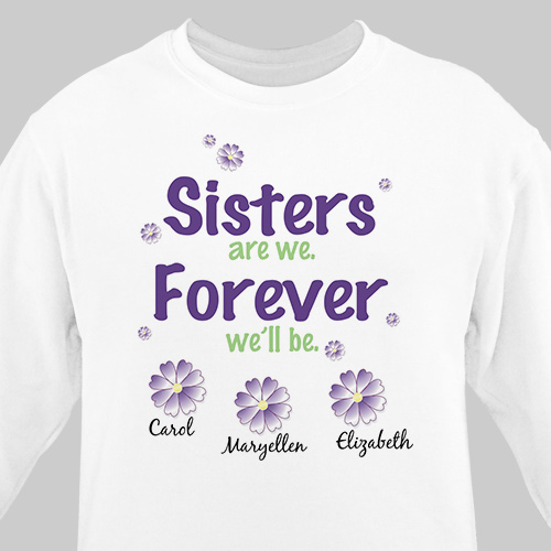 Sisters Forever Personalized Sweatshirt | Personalized Sweatshirts