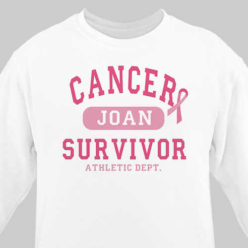 Cancer Survivor Athletic Dept. - Breast Cancer Awareness Sweatshirt