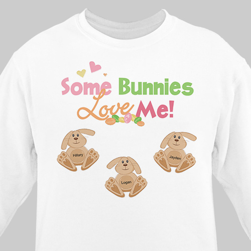 Some Bunnies Love Me Personalized Sweatshirt | Easter Shirts For Adults