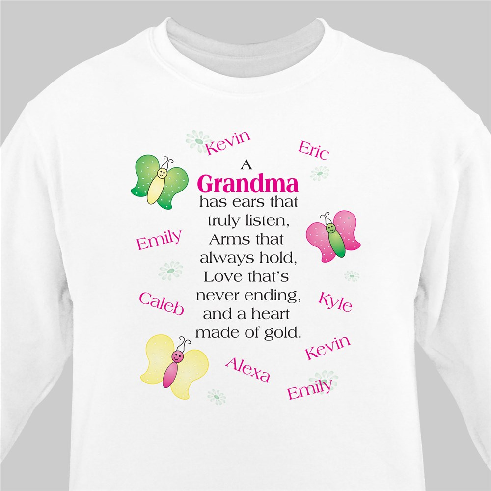 Made of Gold Personalized Sweatshirt | Personalized Grandma Shirts