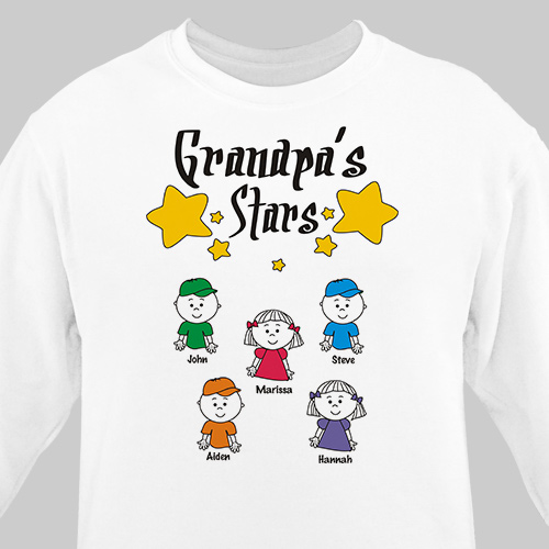 My Stars Personalized Father's Day Sweatshirt