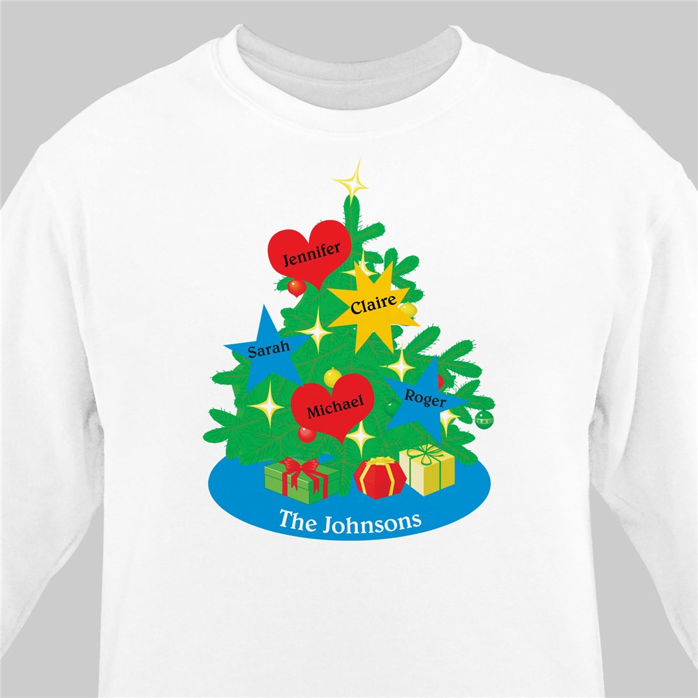 Christmas Tree Sweatshirt | Personalized Christmas Shirt