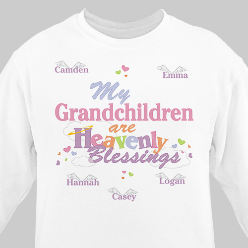 Heavenly Blessings Personalized Sweatshirt | Personalized Grandma Sweatshirts
