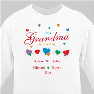 Is Loved By... Sweatshirt | Personalized Sweatshirts For Grandma