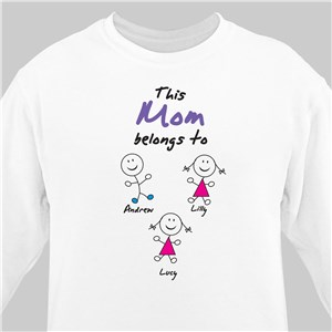 Belongs To Personalized Sweatshirt | Personalized Sweatshirts