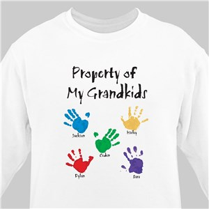 Property of Personalized Sweatshirt | Personalized Gifts For Grandma