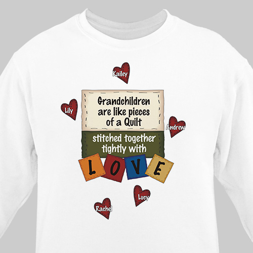 Stitched Together Quilting Personalized Quilters Sweatshirt | Personalized Grandma Shirts