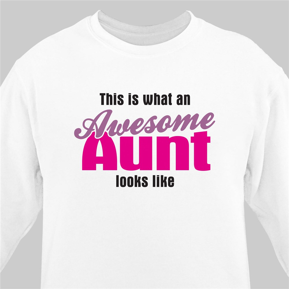Awesome Aunt Personalized Sweatshirt | Personalized Aunt Gifts