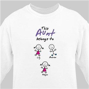 Especially Loved By Personalized Aunt Sweatshirt | Personalized Aunt Gifts