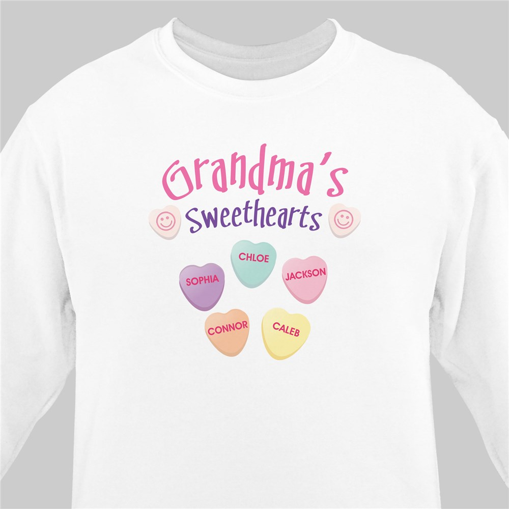 Sweethearts Candy Sweatshirt | Personalized Grandma Shirts