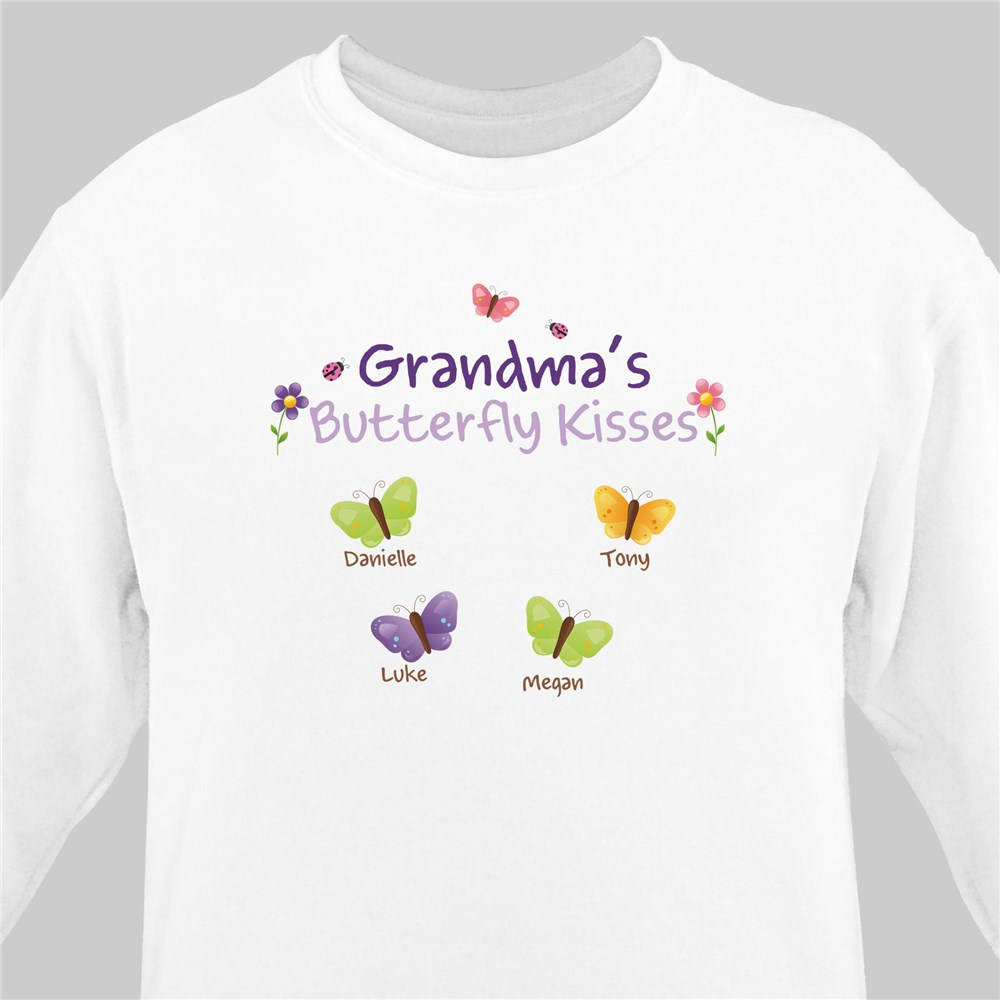 Butterfly Kisses Personalized Sweatshirt | Personalized Grandma Shirts