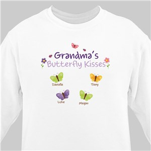 Butterfly Kisses Personalized Sweatshirt | Personalized Grandma Gifts