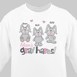 Gray Hares Personalized Sweatshirt | Easter Shirts For Adults