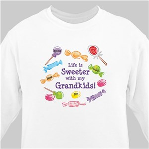 Life Is Sweeter Personalized Sweatshirt | Personalized Grandma Shirts