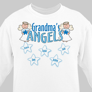 Angels Personalized Sweatshirt | Personalized Grandma Shirts