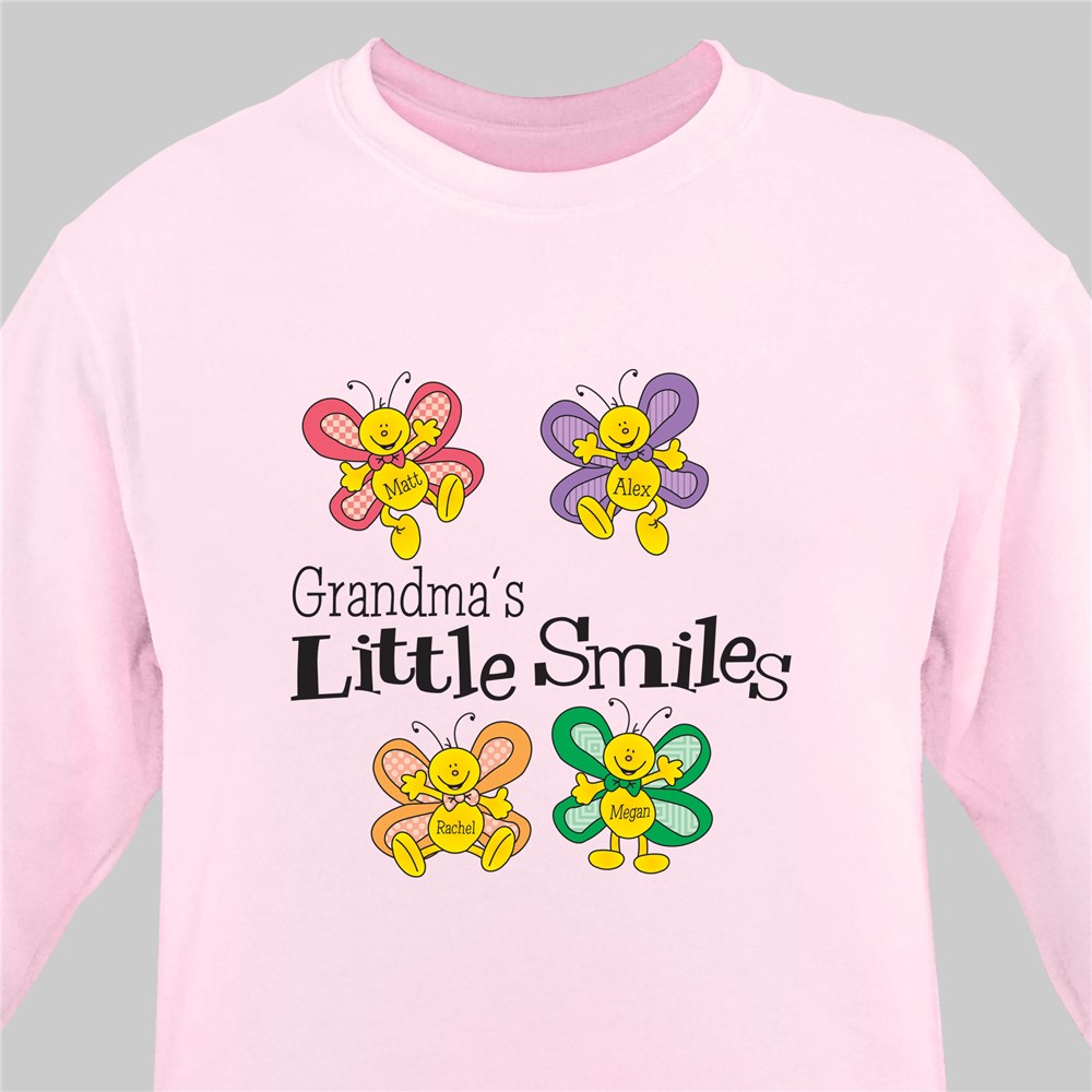 Little Smiles Personalized Sweatshirt | Personalized Grandma Shirts