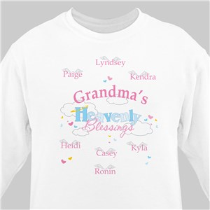 Heavenly Blessings Personalized Sweatshirt | Personalized Grandma Shirts