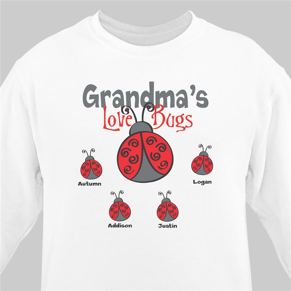 Personalized Love Bugs Sweatshirt | Personalized Grandma Shirts
