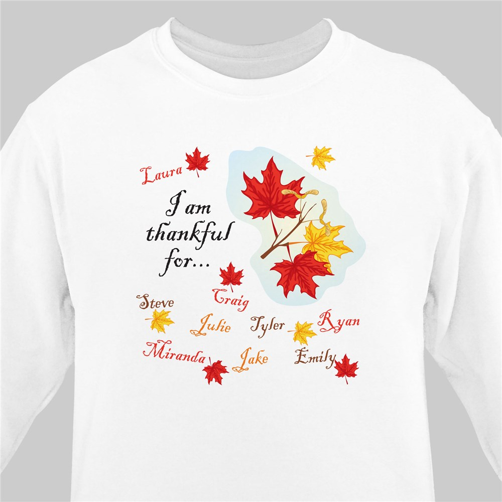 Thankful For Sweatshirt | Personalized Sweatshirts