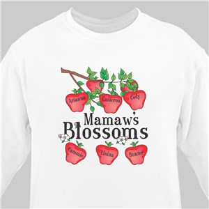Blossoms Personalized Sweatshirt | Personalized Grandma Shirts