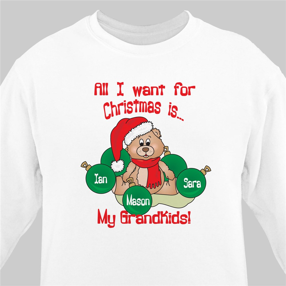 Personalized Grandma Shirt for Christmas