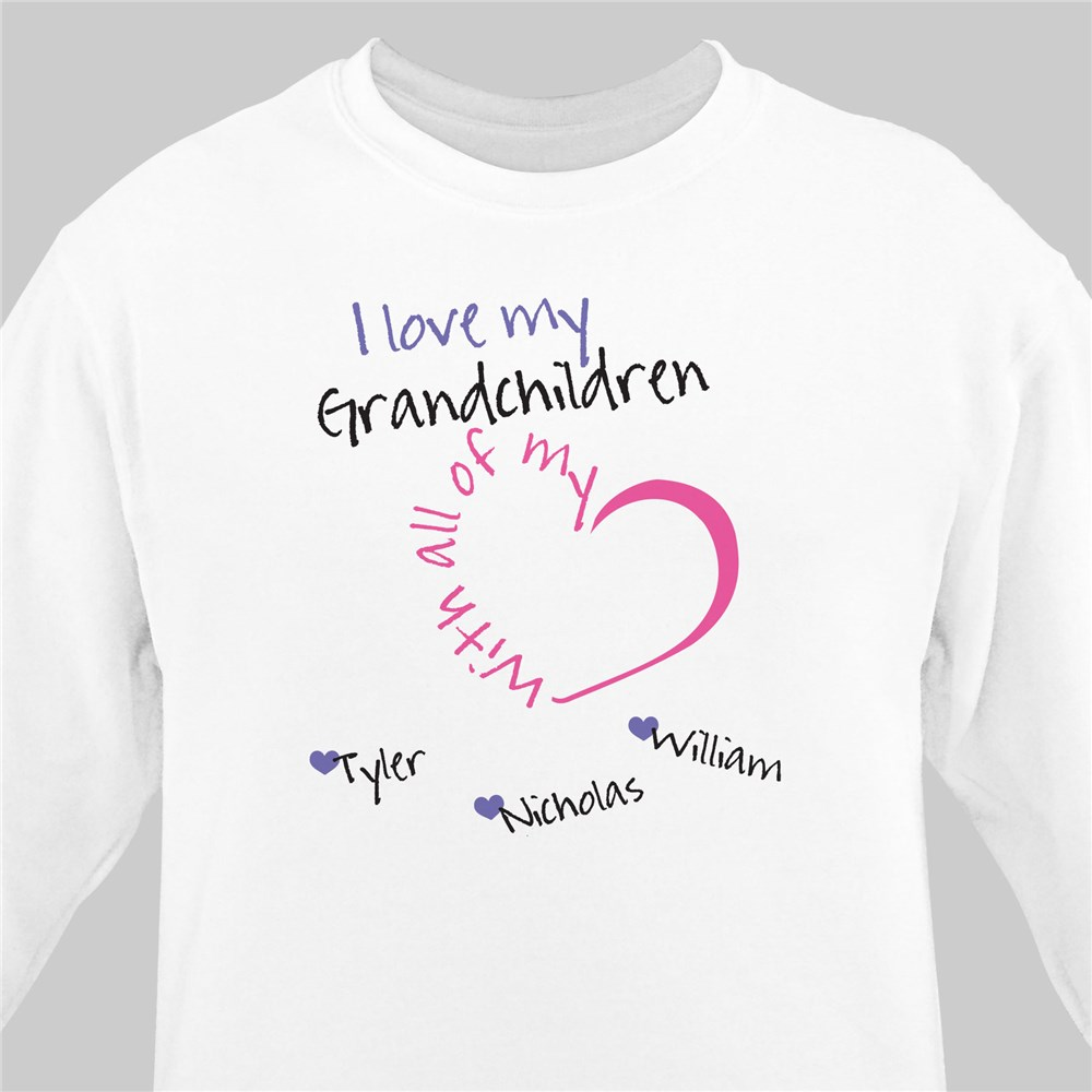 Personalized With All My Heart Sweatshirt | Personalized Sweatshirts