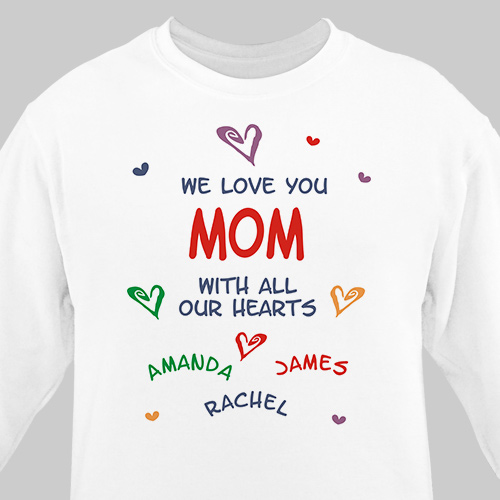 We Love You Personalized Sweatshirt | Personalized Gifts For Grandma