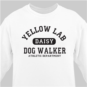 Personalized Dog Walker Athletic Dept. Sweatshirt 56534X