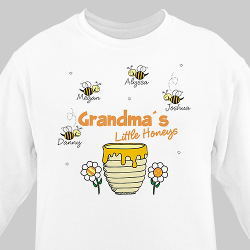 Little Honeys Personalized Sweatshirt | Personalized Grandma Shirts