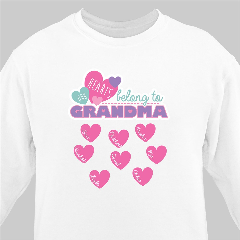 Custom Printed Grandma Sweatshirt | Personalized Grandma Shirts