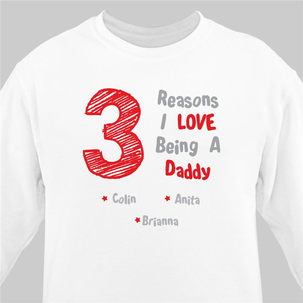 Personalized I Love My Children Sweatshirt | Dad Shirts