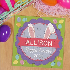 Bunny Puzzle for Easter | Personalized Easter Gift For Kids