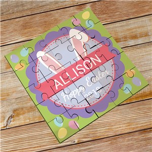Bunny Ears Kids Personalized Puzzle | Easter Gifts For Kids